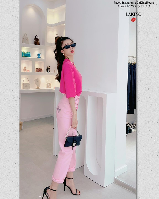 quần hồng ôm