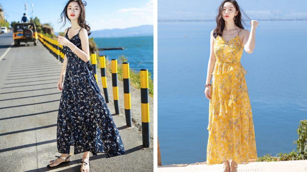 Váy maxi đi biển dịp lễ