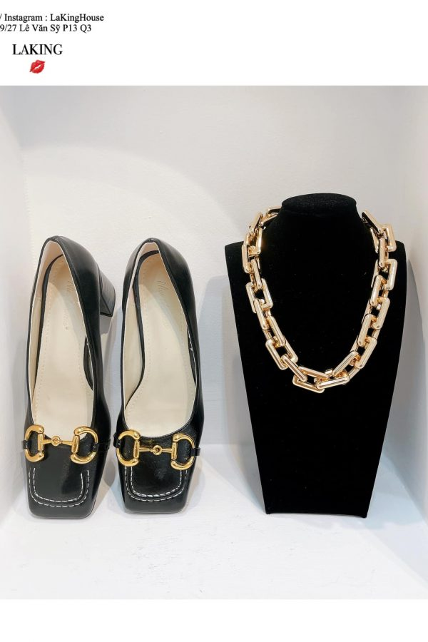 giày đen cao gót