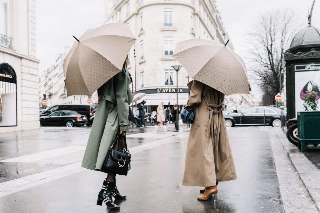 Thời trang nữ ngày mưa