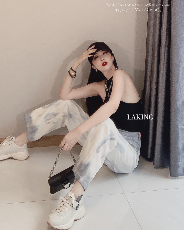 quần jean loang xám