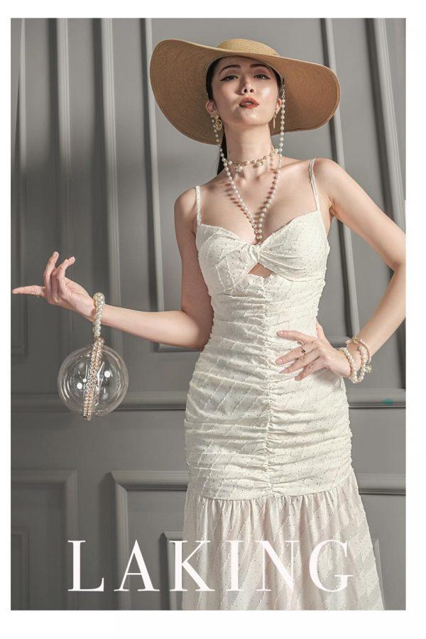 Đầm hai dây cúp ngực